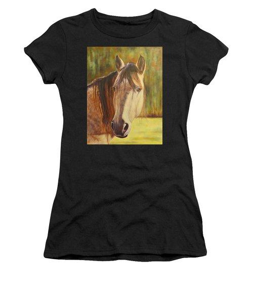 Maggie, Horse Portrait Women's T-Shirt (Athletic Fit)