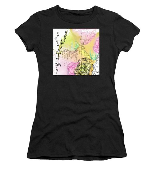 Women's T-Shirt (Athletic Fit) featuring the drawing Magic Mist by Jan Steinle