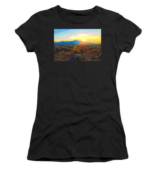 Magic Over Taos Women's T-Shirt (Athletic Fit)