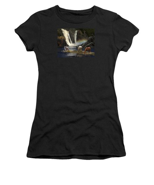 Women's T-Shirt (Athletic Fit) featuring the photograph Magical Retreat by Melinda Hughes-Berland