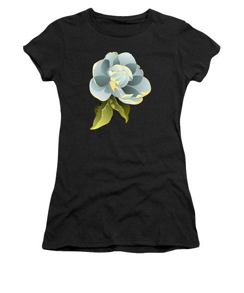 Magnolia Blossom Graphic Women's T-Shirt (Athletic Fit)