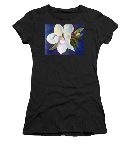 Magnolia Painting Women's T-Shirt (Athletic Fit)