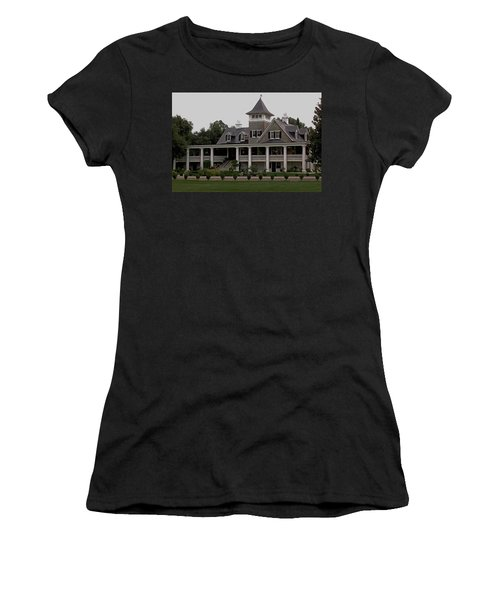 Magnolia Plantation Home Women's T-Shirt (Junior Cut) by DigiArt Diaries by Vicky B Fuller