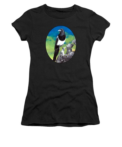 Magpie Women's T-Shirt (Junior Cut) by Kelly Strope