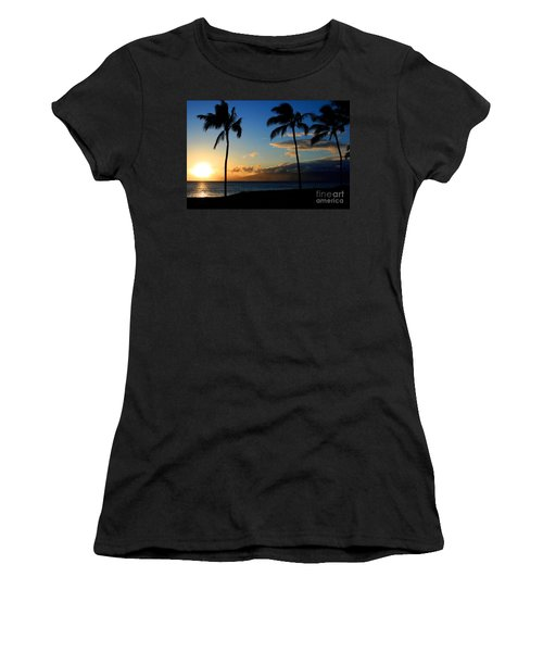 Mai Ka Aina Mai Ke Kai Kaanapali Maui Hawaii Women's T-Shirt (Junior Cut) by Sharon Mau