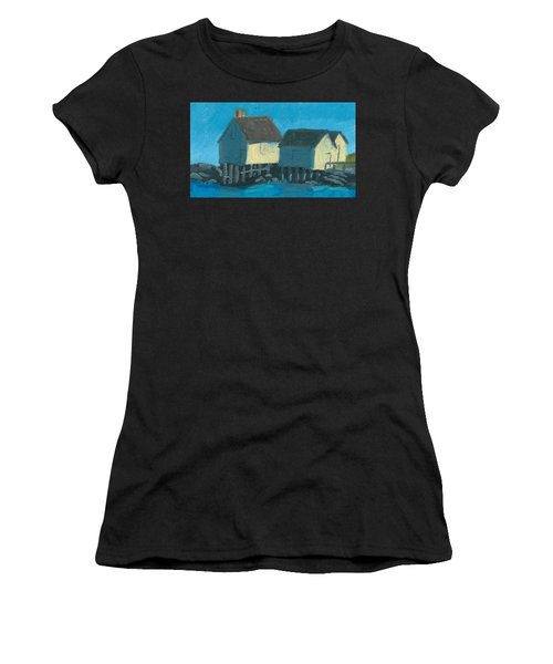 Maine Beach Fishing Shacks Women's T-Shirt