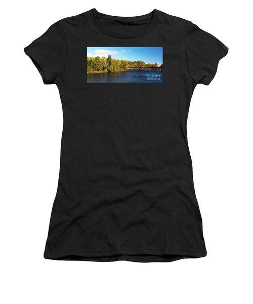 Maine Rail Line Women's T-Shirt (Athletic Fit)