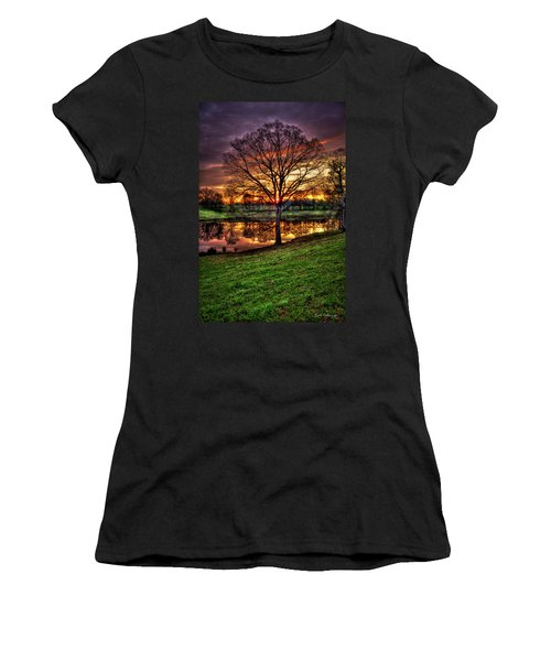 Majestic Sunrise Reflections Art Women's T-Shirt