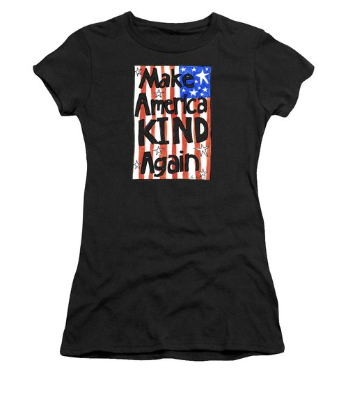 Make America Kind Again Women's T-Shirt (Athletic Fit)