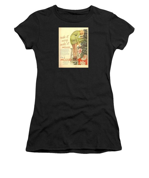 Women's T-Shirt featuring the digital art Make It Merry...make It Mojud by Reinvintaged