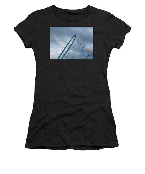 Making A Bubble A Women's T-Shirt (Athletic Fit)
