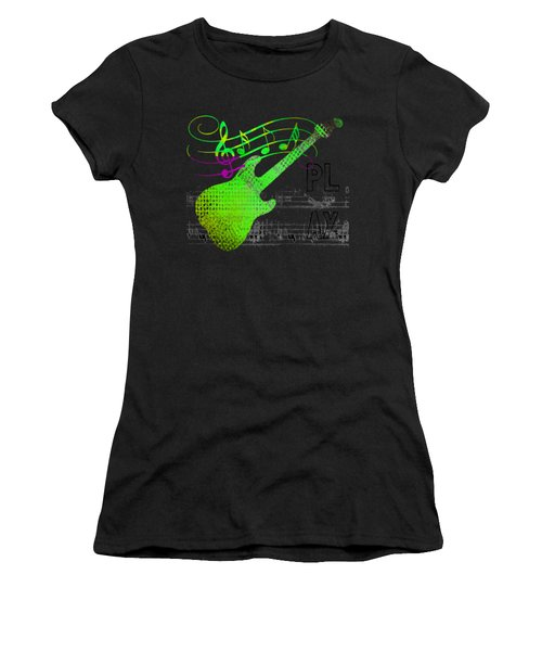 Women's T-Shirt (Athletic Fit) featuring the digital art Making Music by Guitar Wacky