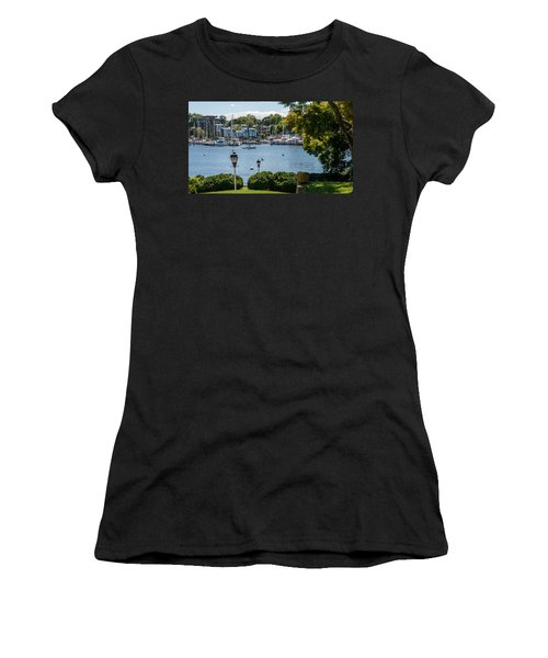 Women's T-Shirt (Athletic Fit) featuring the photograph Making Way Up Creek by Charles Kraus
