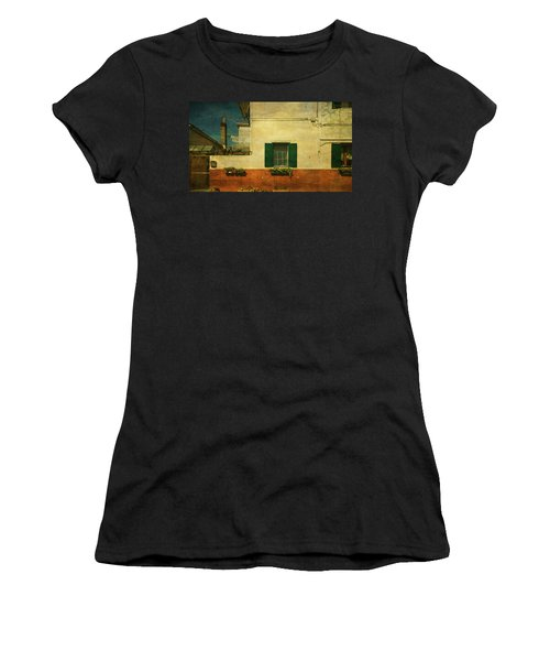 Women's T-Shirt (Junior Cut) featuring the photograph Malamocco Facade No1 by Anne Kotan