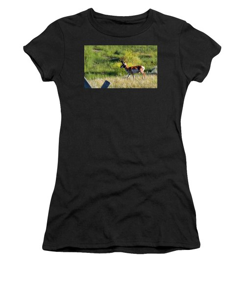 Male Pronghorn Women's T-Shirt (Athletic Fit)