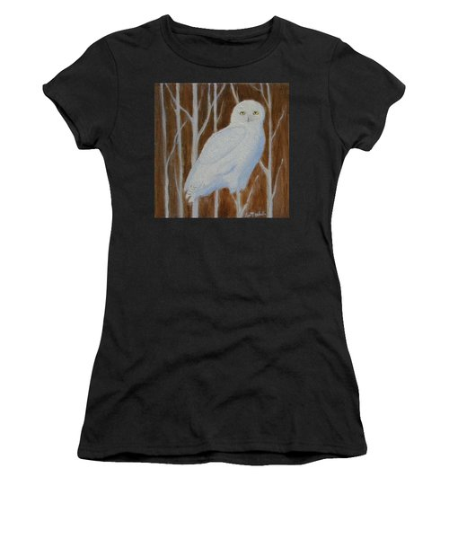 Male Snowy Owl Portrait Women's T-Shirt
