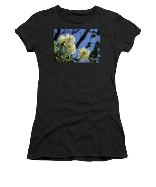 Women's T-Shirt (Athletic Fit) featuring the photograph Old Man's Beard by Ed Clark