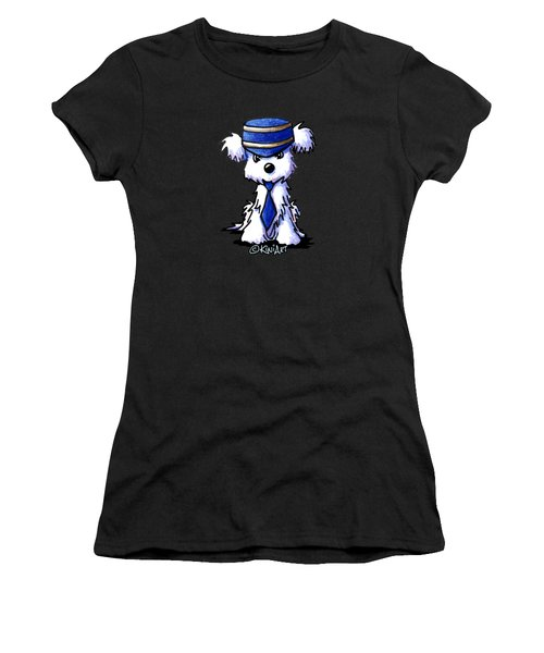 Maltese Conductor Women's T-Shirt (Athletic Fit)