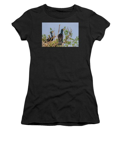Mama, Papa And Kids - Danube Delta Women's T-Shirt (Athletic Fit)