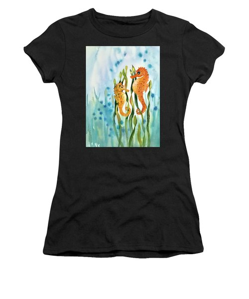 Mamma And Baby Seahorses Women's T-Shirt