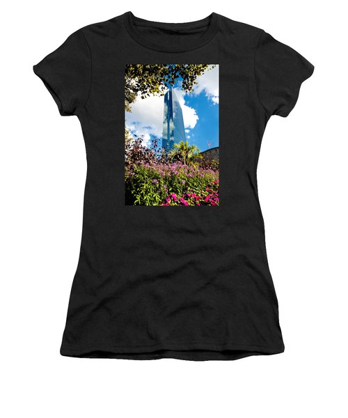 Man And Nature Women's T-Shirt (Junior Cut) by Greg Fortier