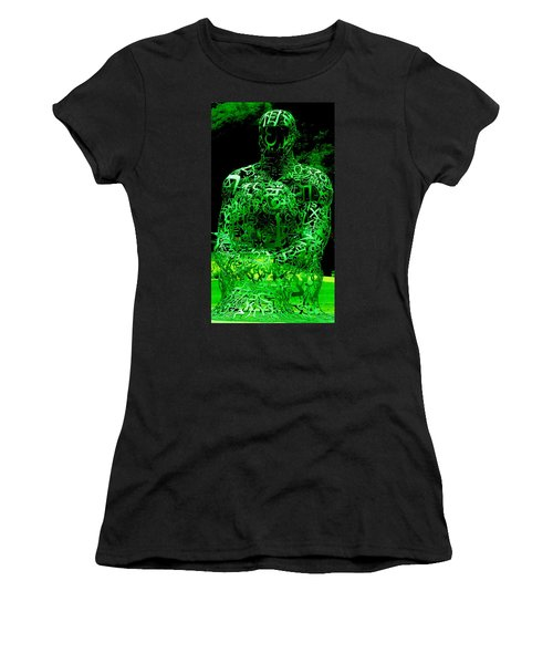 Man In Green Women's T-Shirt (Athletic Fit)