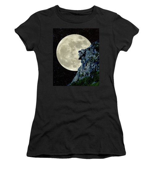 Man In The Moon Meets Old Man Of The Mountain Vertical Women's T-Shirt