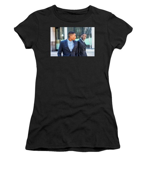 Man Looking At Mirror Women's T-Shirt