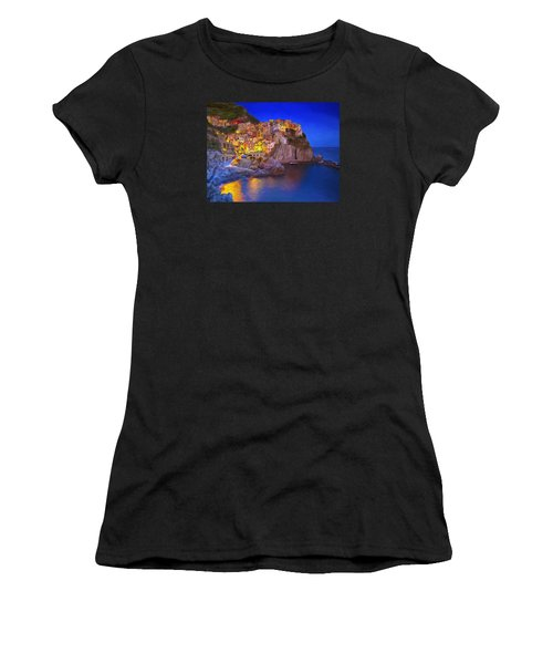 Manarola By Moonlight Women's T-Shirt (Athletic Fit)