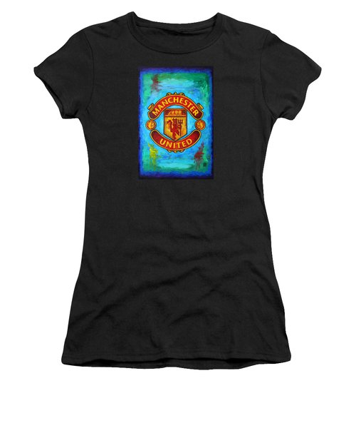Manchester United Vintage Women's T-Shirt (Athletic Fit)