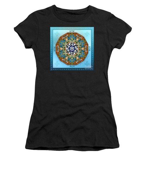 Mandala Shalom Women's T-Shirt (Athletic Fit)