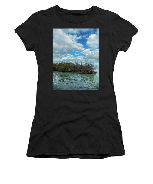 Women's T-Shirt (Athletic Fit) featuring the photograph Mangroves In Key West Damaged By The Storm by Bob Slitzan