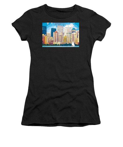 Manhattan Skyline New York City Women's T-Shirt