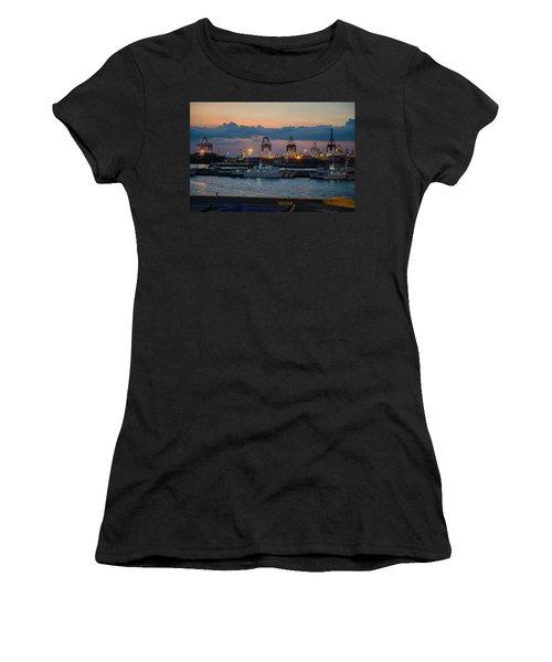 Manila Port Women's T-Shirt (Athletic Fit)