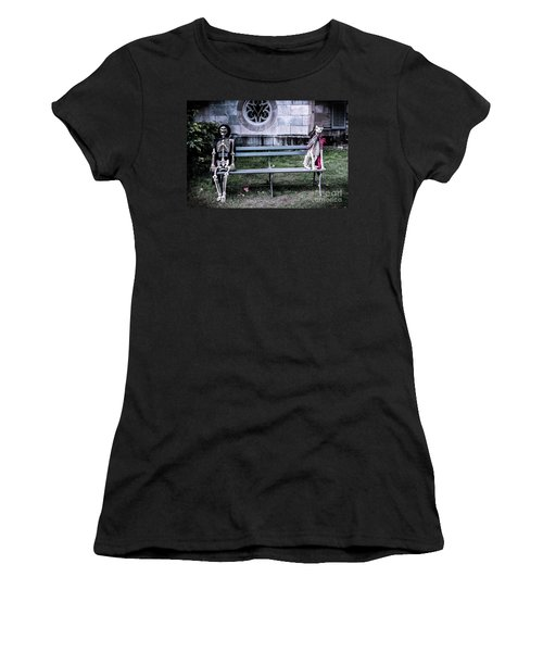 Women's T-Shirt (Junior Cut) featuring the photograph Man's Best Friend Till The End by Colleen Kammerer