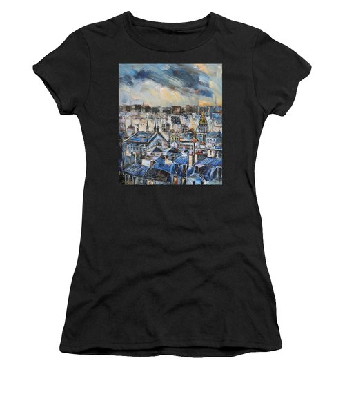 Mansards In Blue Women's T-Shirt