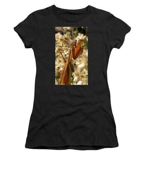 Mantis Pose Women's T-Shirt (Athletic Fit)