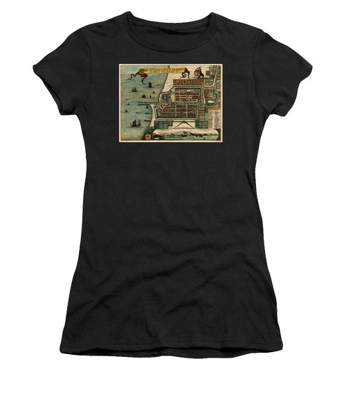 Map Of Java 1669 Women's T-Shirt (Junior Cut) by Andrew Fare