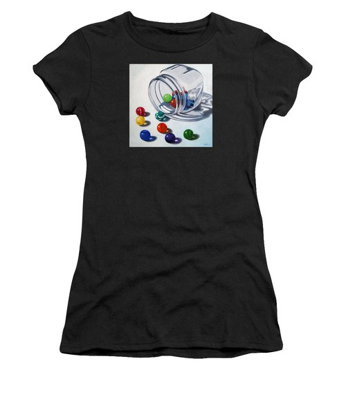 Marbles And Glass Jar Still Life Painting Women's T-Shirt