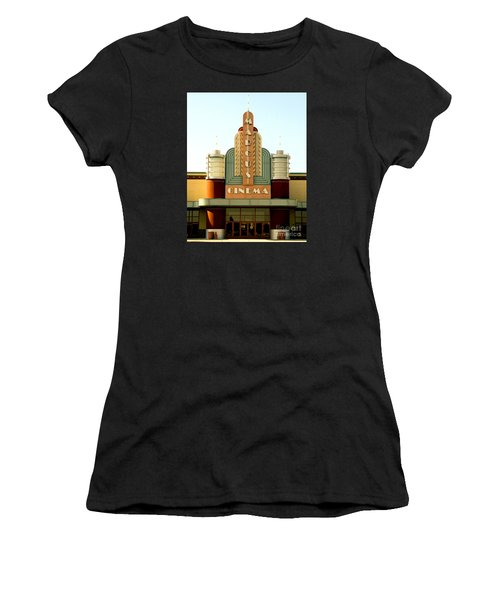Women's T-Shirt (Junior Cut) featuring the photograph Marcus Renaissance Cinema, Racine Wisconsin  by Ricky L Jones