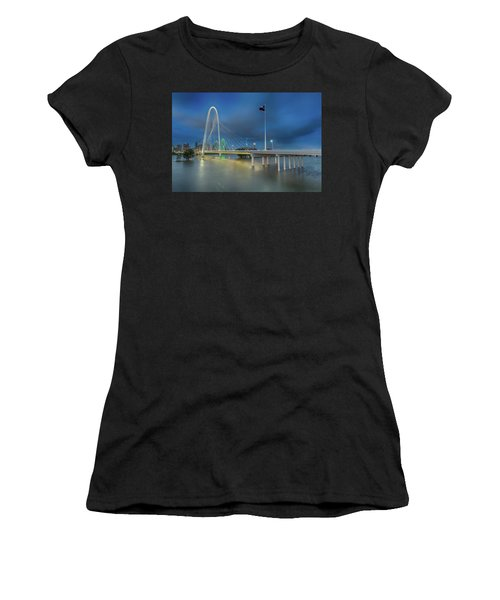 Women's T-Shirt (Athletic Fit) featuring the photograph Margaret Hunt Hill Bridge Dallas Texas by Robert Bellomy
