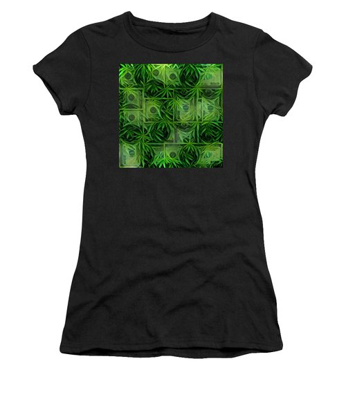 Marijuana Dollars Women's T-Shirt (Athletic Fit)