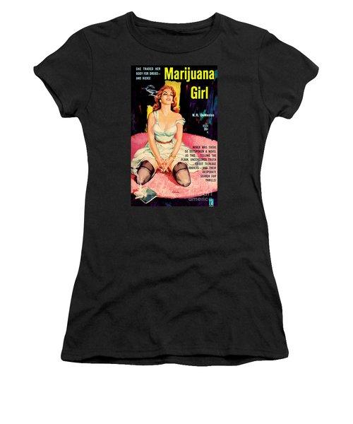 Marijuana Girl Women's T-Shirt (Athletic Fit)