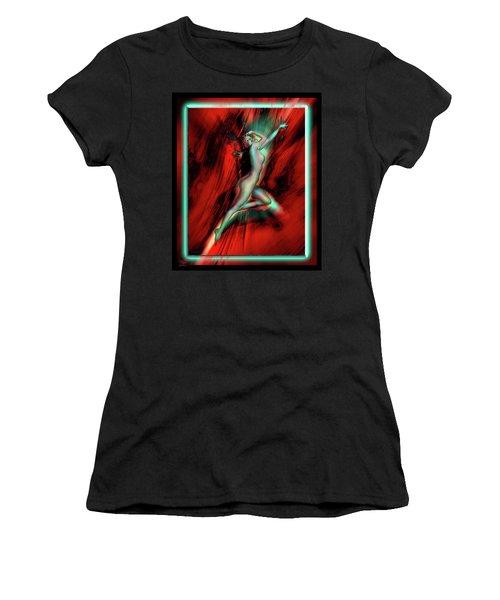 Marilyn's Rose Women's T-Shirt (Junior Cut) by Glenn Feron