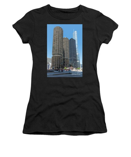 Marina City, Ama Plaza, And Trump Tower Women's T-Shirt
