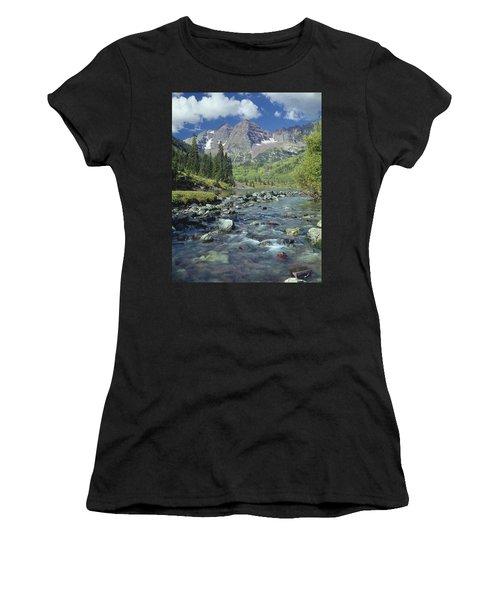 210404-maroon Bells And Creek  Women's T-Shirt