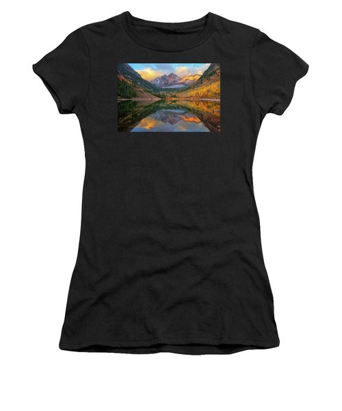Maroon Bells Autumn Reflections Women's T-Shirt
