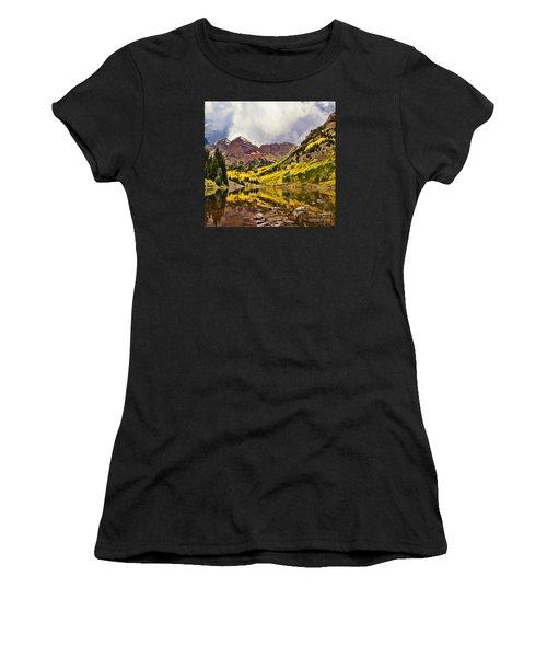 Maroon Bells Lake Women's T-Shirt (Athletic Fit)