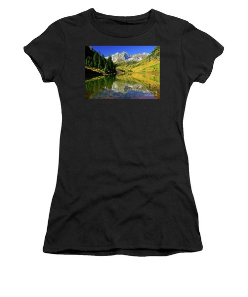 Maroon Lake Autum - 1 Women's T-Shirt (Athletic Fit)