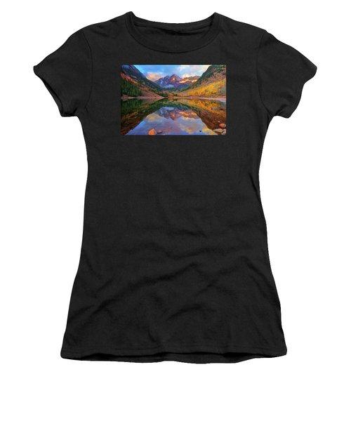 Maroon Lake Dawn Women's T-Shirt